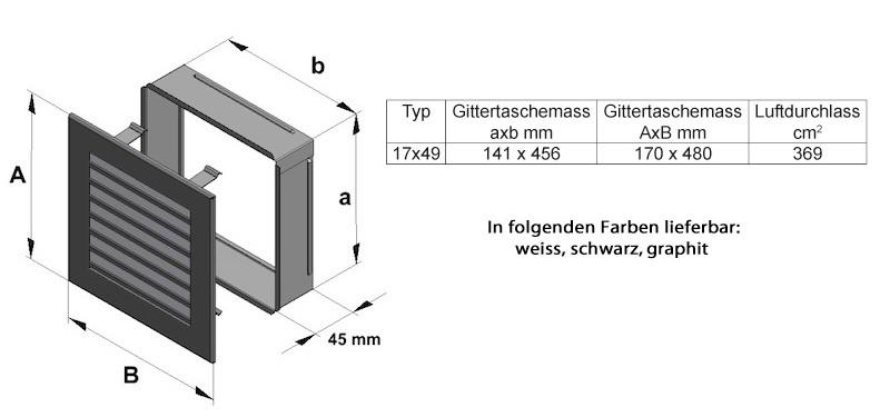 D tails sur grille ventilation 17x49 grille chemin e acier ponc - Grille motorisee autogyre ...