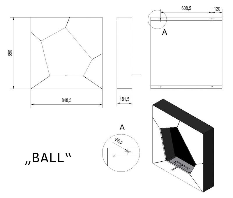 wandkamin bio kamin farbe wei ethanol kamin bioethanol chemin e t v gepr ft ebay. Black Bedroom Furniture Sets. Home Design Ideas