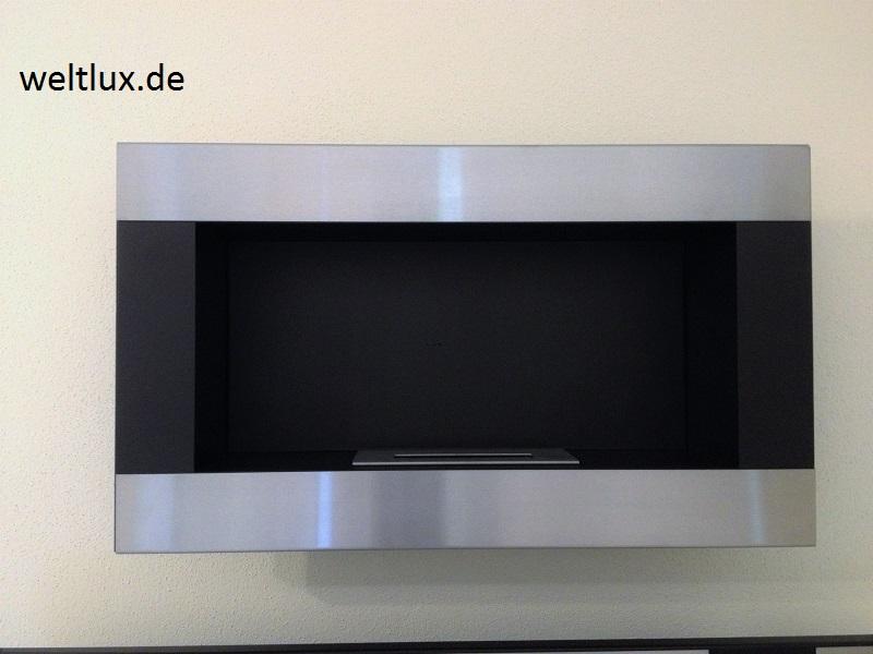 wandkamin biokamin bio ethanol kamin edelstahl modell h 650 edelstahl mit t v ebay. Black Bedroom Furniture Sets. Home Design Ideas